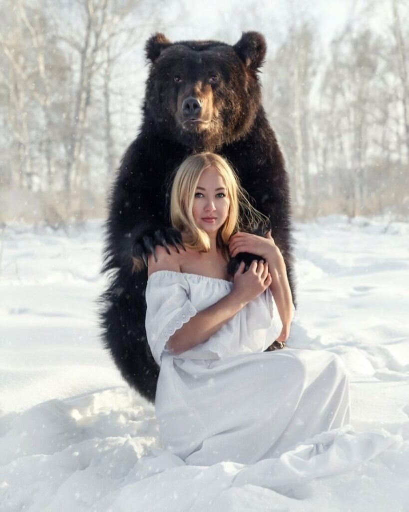 Veronica and Archie, the bear